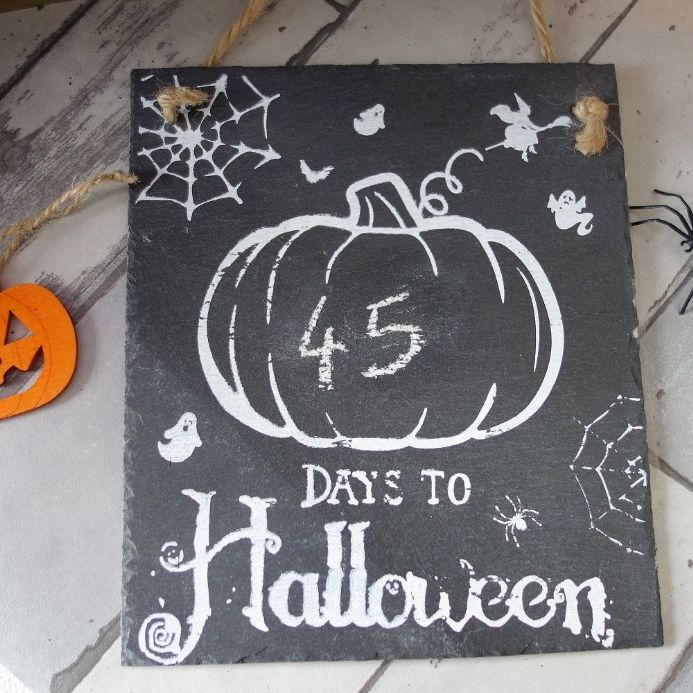 50% off Days To Halloween Countdown Chalkboard